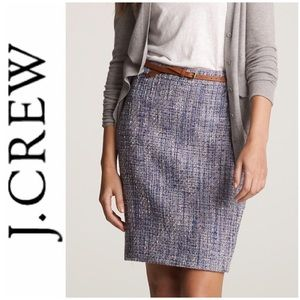"""✨ J. Crew """"Bellflower Tweed Pencil Skirt"""" ✨"""